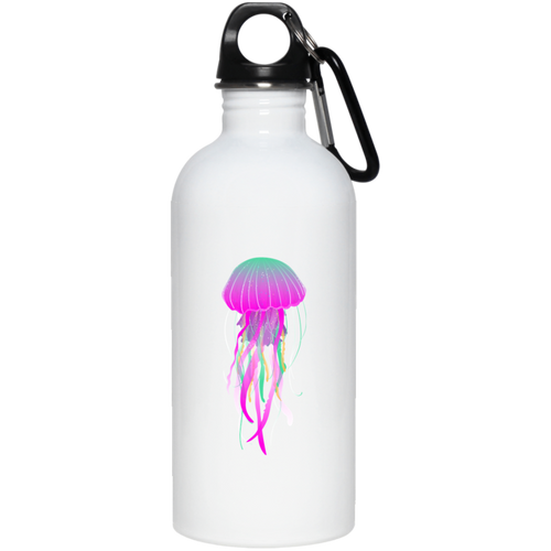 Psychedelic Jellyfish 20 oz. Stainless Steel Water Bottle - Giving Gecko Giving Back To Animal Rescue Charities