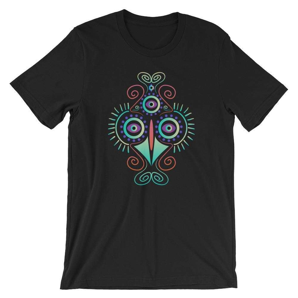 Psychedelics Hallucinatory Chicken Bird T-Shirts - Giving Gecko Giving Back To Animal Rescue Charities