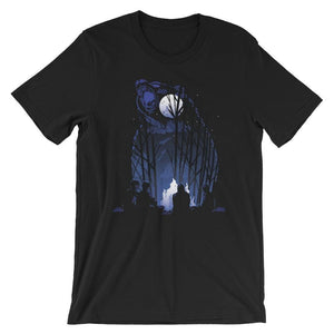 Roaring Grizzly Bear Campfire T-Shirt T-Shirts - Giving Gecko Giving Back To Animal Rescue Charities