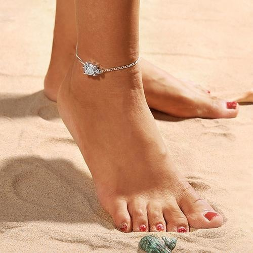 Sea Turtle Chain Anklet Anklets - Giving Gecko Giving Back To Animal Rescue Charities