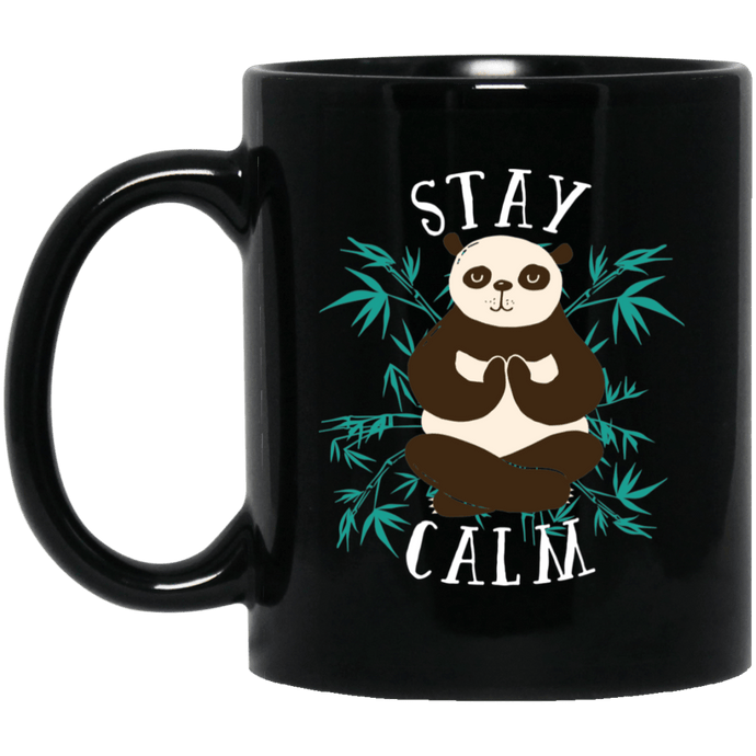 Stay Calm Yoga Panda Mug Mugs - Giving Gecko Giving Back To Animal Rescue Charities