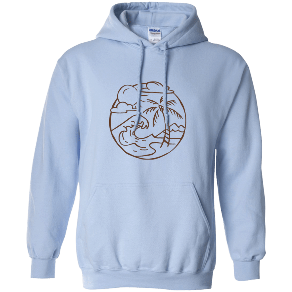 Summer Island Beach Pullover Hoodie Hoodies - Giving Gecko Giving Back To Animal Rescue Charities