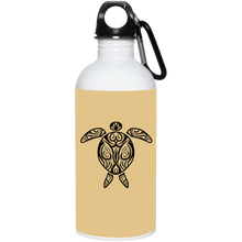 Tribal Sea Turtle 20 oz. Stainless Steel Water Bottle - Giving Gecko Giving Back To Animal Rescue Charities