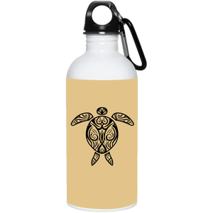 Tribal Sea Turtle Reusable Water Bottle - Giving Gecko Giving Back To Animal Rescue Charities
