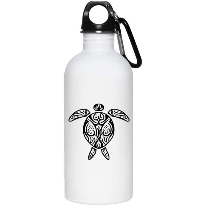 Tribal Sea Turtle Reusable Water Bottle Water Bottles - Giving Gecko Giving Back To Animal Rescue Charities