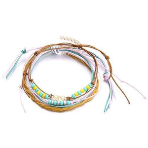 Tropical Summer Fruit Beach Anklet - Giving Gecko Giving Back To Animal Rescue Charities