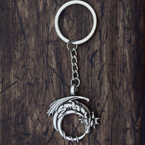 Dragon Norse Mythology Antique Keychain Keychains - Giving Gecko Giving Back To Animal Rescue Charities