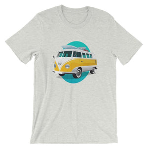 Volkswagen Van Surfer Summer Beach T-Shirt - Giving Gecko Giving Back To Animal Rescue Charities