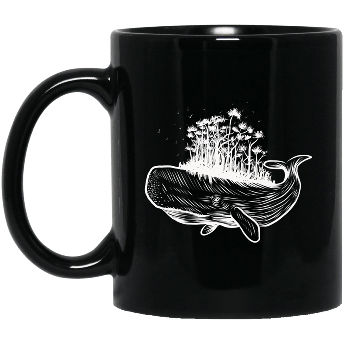 Whale Forest Island Mug Mugs - Giving Gecko Giving Back To Animal Rescue Charities