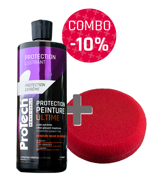 Combo Protection Peinture Ultime ProTech® Monte-Carlo 500 mL + Pad Lustrant