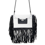 Clear Three Fringe Crossbody