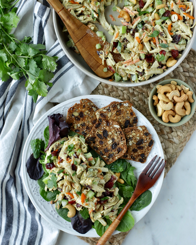 Spicy Masala Turkey Cutlet Curried Salad