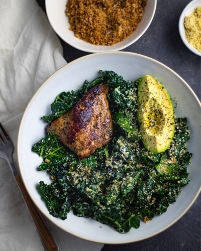 Olive Oil & Herbs Turkey Kale Salad