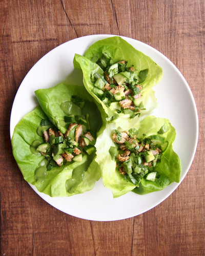 Spicy Masala Turkey Lettuce Wraps