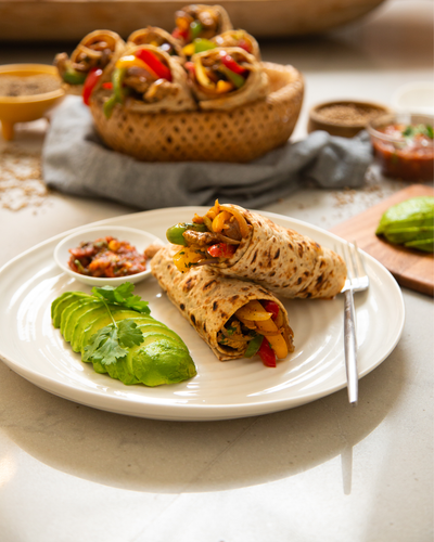 Smoky & Sweet Chili Turkey Fajita Wraps