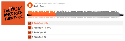 On Air: The Great American Turkey Company Radio Spots!