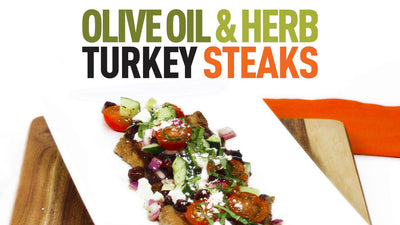 Olive Oil & Herb Turkey Steaks with Mediterranean Salsa Topping