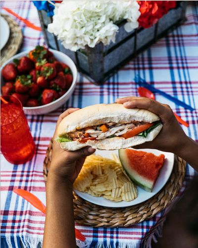 Olive Oil & Herbs Turkey Salad Sandwich