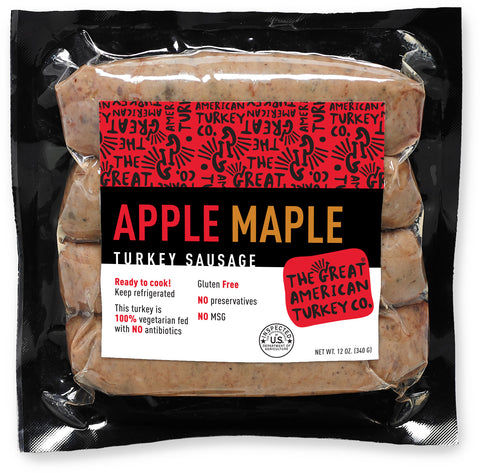 Apple Maple Turkey Sausage