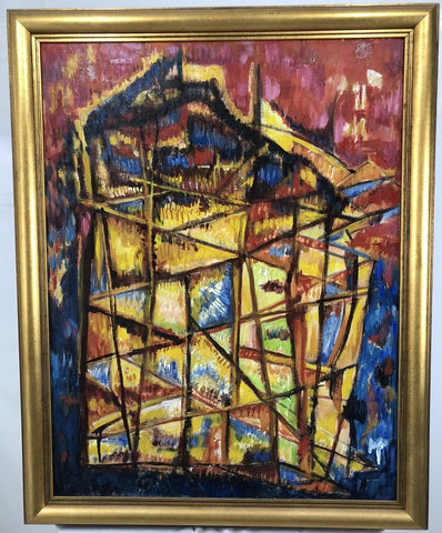 Vertical Construction - Oil on Canvas - by Frederick M. Perl