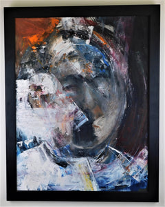 Untitled Head - E. Tage Larsen - Oil on Watercolor Board