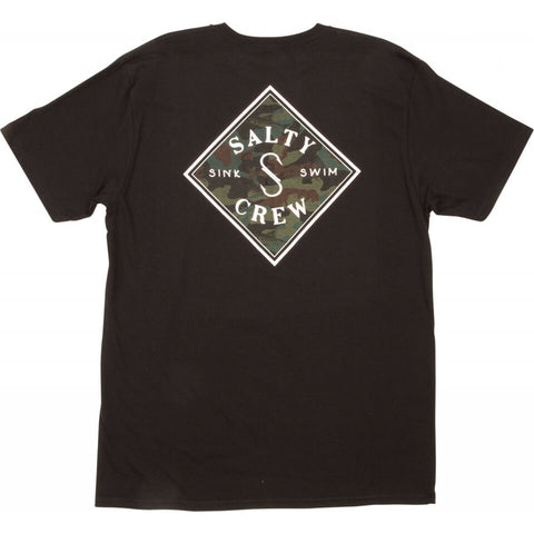 Salty Crew Tippet Decoy Standard S/S Tee in Black