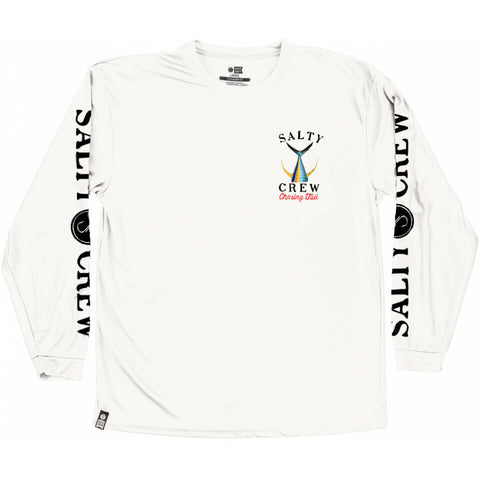 Salty Crew TAILED  L/S Tech Tee Rashguard in White