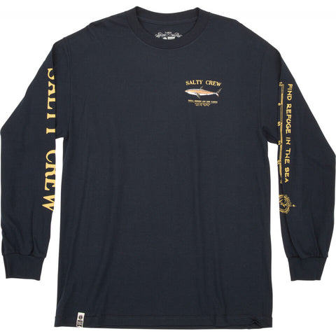 Salty Crew Bruce L/S Tee in Navy