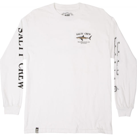 Salty Crew Bruce L/S Tee in White