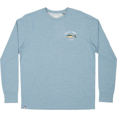 Salty Crew Ahi Mount Tech LS Tee in Harbor Blue