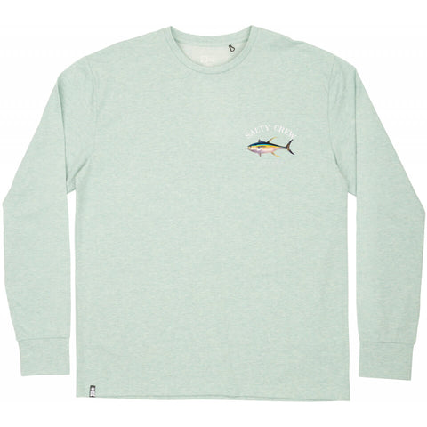 Salty Crew Ahi Mount Tech LS Tee in Sage