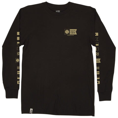 Salty Crew Alpha Premium L/S Tee in Black