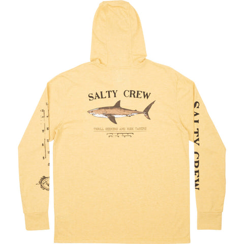 Salty Crew Bruce Hood Tech Tee in Kelp
