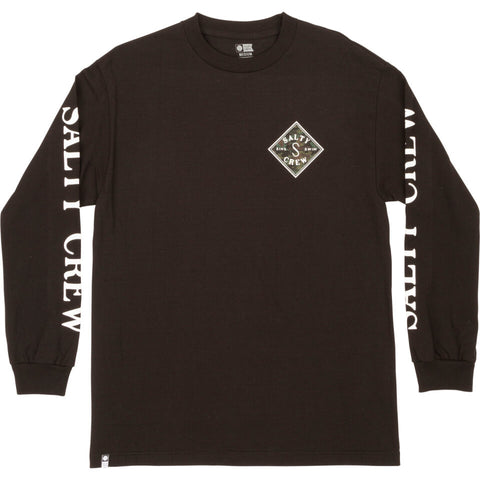 Salty Crew Tippet Decoy Standard L/S Tee in Black