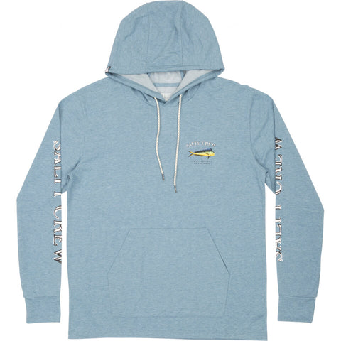 Salty Crew EL DORADO HOOD TECH TEE in Harbor Blue