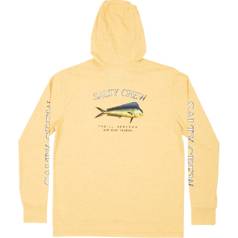 Salty Crew EL DORADO HOOD TECH TEE in Kelp