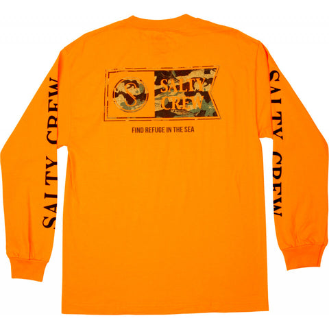 Salty Crew ALPHA DECOY L/S TEE in Orange
