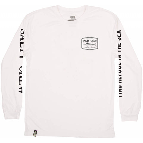 Salty Crew STEALTH L/S RASHGUARD in WHITE