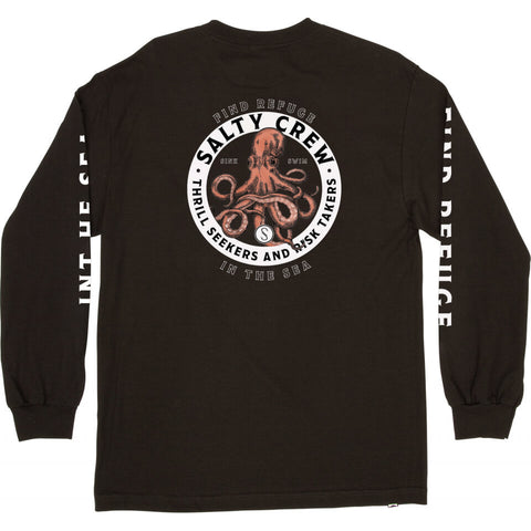 Salty Crew DEEP REACH STANDARD L/S TEE in BLACK