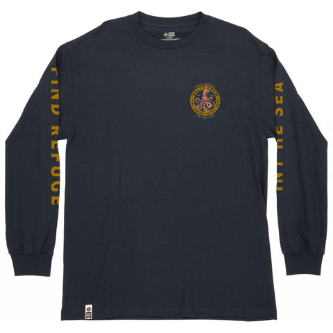 Salty Crew DEEP REACH STANDARD L/S TEE in Navy