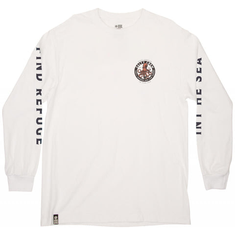 Salty Crew DEEP REACH STANDARD L/S TEE in WHITE