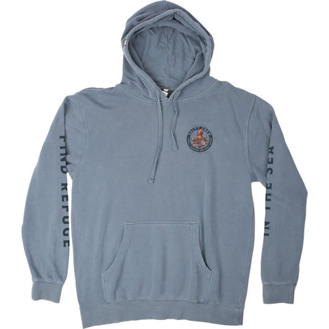 Salty Crew FLEECE STANDARD DEEP REACH OVERDYED FLEECE in Blue