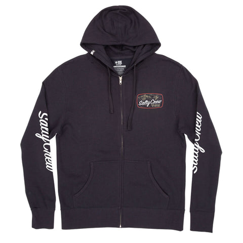 Salty Crew TUNA ISLE ZIP FLEECE in Navy