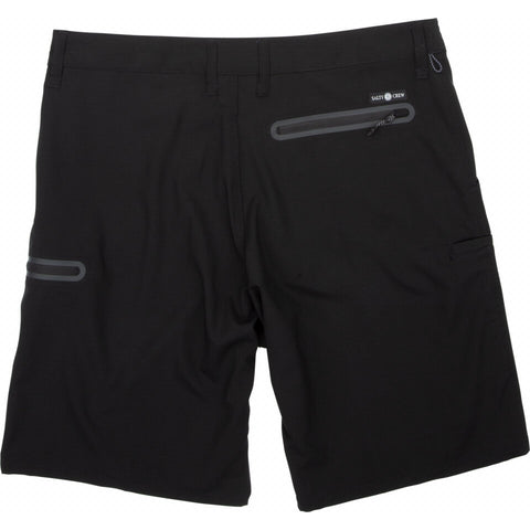 Salty Crew High Seas Ripstop Short in Black