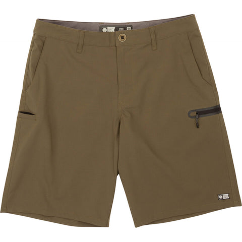 Salty Crew High Seas Ripstop Short in Military
