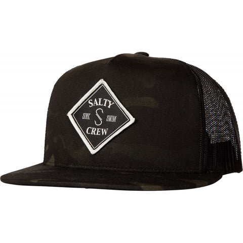 Salty Crew Tippet Trucker in Multicam Black