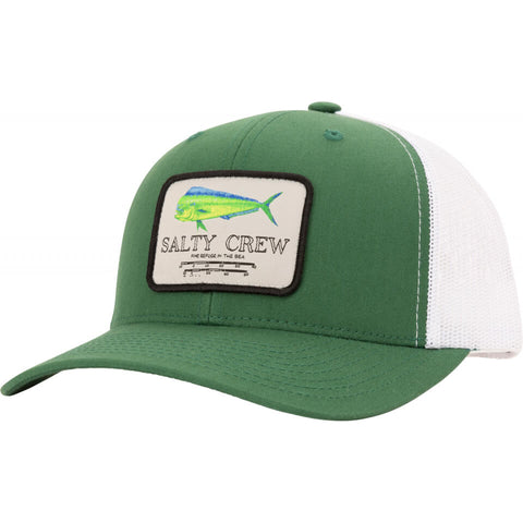 Salty Crew MAHI Mount RETRO TRUCKER in Green White