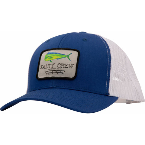 Salty Crew MAHI Mount RETRO TRUCKER in Royal/white