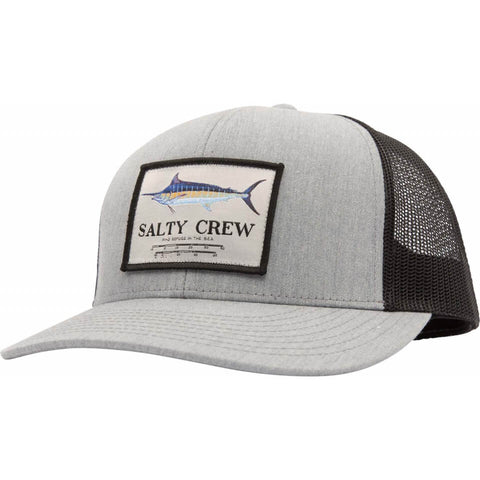 Salty Crew Marlin Mount Retro Trucker in Heather Grey/Black