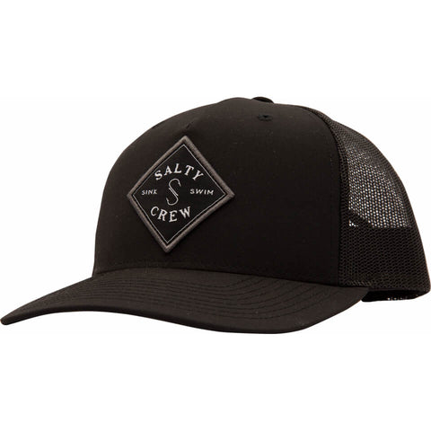 Salty Crew Sea Line Retro Trucker in Black